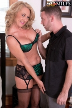 Cali comes to 50PlusMILFs.com and gets her a-hole fucked