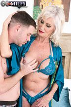 Leah can not avoid screwing youthful ramrod!