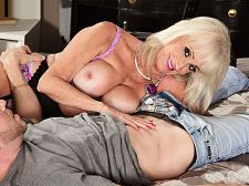 Leah's 1st clip shag is with a youthful stud