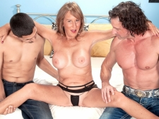Trisha receives ass-fucked by 2 boyz and swallows