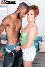 Young, black ramrod for HORNY HOUSEWIFE Ruby O'Connor
